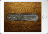 アンティーク家具のロゴやサインを撮影