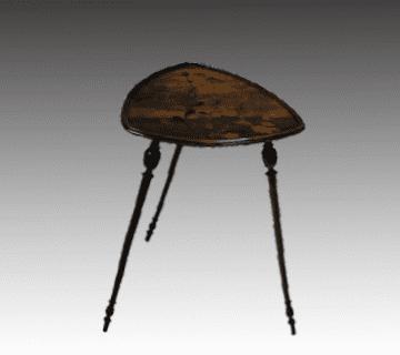 【アンティーク家具】サイドテーブル エミールガレ(アールヌーヴォー)