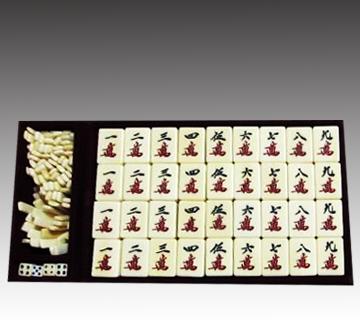 【古道具】象牙製 背竹麻雀牌碑