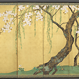 日本画屏風