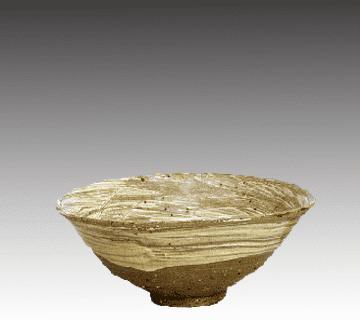 京焼・清水焼:仁阿弥道八(2代目高橋道八)作の大皿