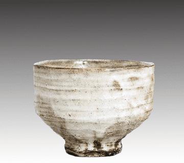 萩焼:萩焼茶碗 12代坂倉新兵衛作 陶器買取情報