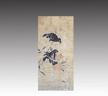 【中国掛け軸】花鳥画掛軸 呂紀作