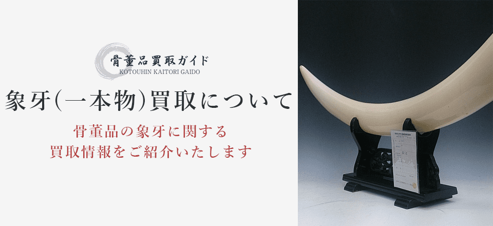 象牙(一本物)買取に関する情報を提供するページ