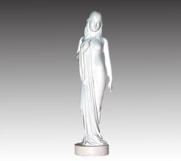 【象牙】象牙製女性彫刻 小針樹生作