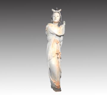 【象牙】中国骨董 象牙製女性立像