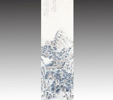 田能村竹田作 山水画
