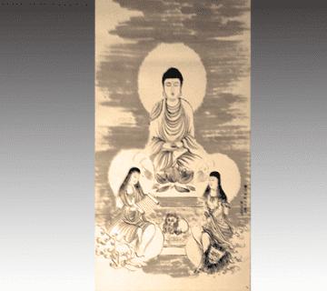 山崎弁栄作 神仏画