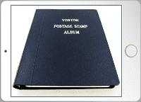 切手帳の表紙を撮影