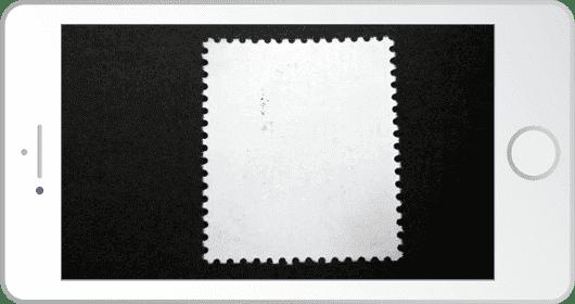 古切手の裏を撮影