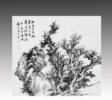 【中国絵画】胡鉄梅 中国唐画