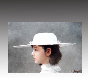 【西洋画】藤井勉作「白」油彩画