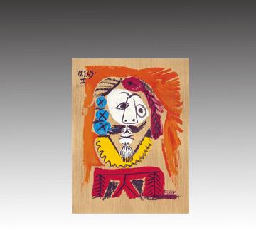 【西洋画】パブロ・ピカソ「想像の中の肖像」リトグラフ