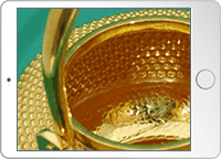 金瓶内部の撮影