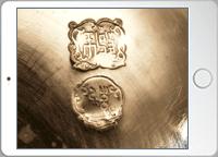 銀瓶蓋の裏の画像